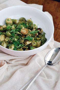 Roasted Brussels Sprouts with Old Bay