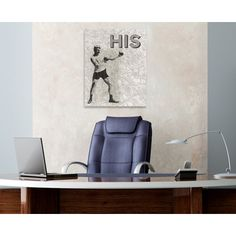 His Canvas Print, Oliver Gal