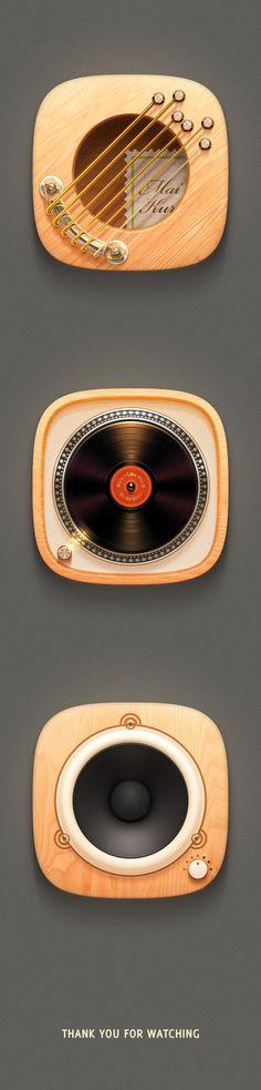 富有音乐感的一组图标设计 - 视觉同盟(VisionUnion.com)