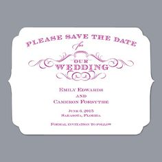 So cute for bridal shower invites or save the dates (in a darker color!)