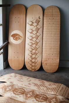 Wooden Skate Decks Beautifully Designed by Laser Engraving - My Modern Metropolis