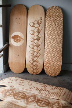 Wooden Skate Decks Beautifully Designed by Laser Engraving - My Modern Metropolis