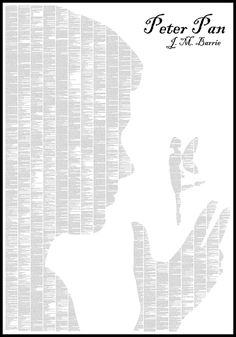 Text From Classic Books Forms Minimalist Posters - My Modern Metropolis