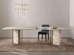 Download the catalogue and request prices of Plinto | rectangular table By meridiani, rectangular marble table design Andrea Parisio, plinto Collection