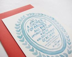 Hand Lettered Baby Shower Invitations by Scout's Honor Co.