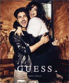 Discover GUESS' Holiday 2017 advertising campaign featuring singer Camila Cabello captured by fashion photographer Tatiana Gerusova. For the session captured in Chateau Marmot hotel Camila was joined Demi Lovato, Modelos Guess, Guess Ads, Guess Girl, Thing 1, Fashion Couple, Leather Men, Leather Jackets, Couple Shoot