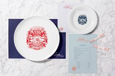 Brand identity and menus by British studio Here Design for Amman-based restaurant Little Italy