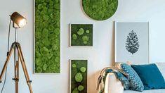 Stylegreen Verticale tuin Flat & Pole moss - 140 x Moss Wall Art, Moss Art, Diy Wall Art, Art Pour Salon, Indoor Plant Wall, In Wall Speakers, Forest House, Art Mural, Living Room Art