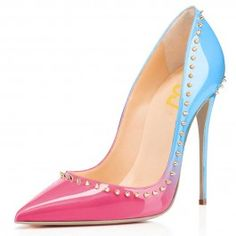 How about this shoe?  Share to get a coupon for all on FSJ Pink and Blue Stiletto Heels Pointy Toe Pumps with Rivets