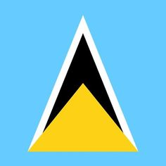 St Lucia Flag Stickers