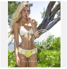 Floratta collection  custom crochet bikini