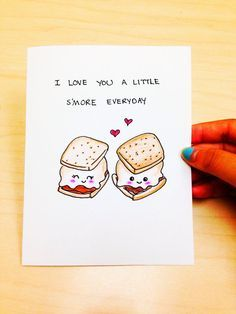 Funny love card, cute anniversary card, cute love card, I love you a little… Funny Valentine, Valentine Day Cards, Kids Valentines, Valentines Day Gifts For Her, Cute Puns, Funny Puns, Funny Quotes, Funny Boyfriend Quotes, Cute Quotes For Your Boyfriend