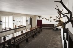The Servants' Hall at Tredegar House, Newport, South Wales.   National Trust Images