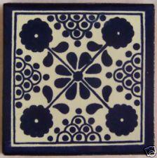 "12 Talavera Ceramic 4"" Tile Mexican Decorative  C037"
