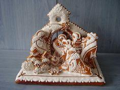 Dekorativní perníčky | Vánoční perníčky--gingerbread nativity.  idea only.  European and old world gingerbread is a guarded art and drop dead gorgeous!