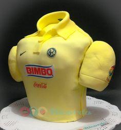 Poder americanista  Playera 3D de los campeones del futbol mexicano. Pastel para 20 personas.  #catalogoRICORDO