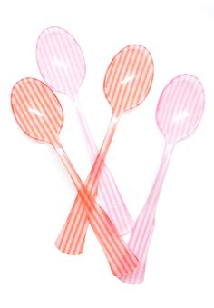 Candy Stripe Teaspoon Set. I wish all of my utensils looked like this!