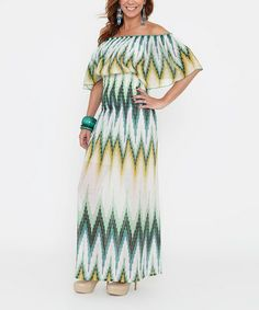 Take a look at this Meadow Shirred Maternity Maxi Dress on zulily today!