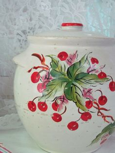 Hey, I found this really awesome Etsy listing at http://www.etsy.com/listing/158681510/1940s-vintage-cookie-jar-cherry-cherries