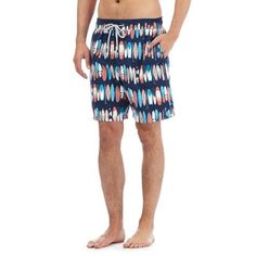 Mantaray Blue surfboard print swim shorts | Debenhams