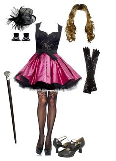 """""""Cabaret Style"""" by briony-jae ❤ liked on Polyvore featuring Sweet & Co., Leg Avenue, Dolce&Gabbana, Zuhair Murad and Bloch"""