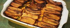 PIÑON (Puerto Rican Lasagna) Recipe | The Chew - ABC.com  Make adjustments as needed.  Could use sweet potatoes instead of plantains.  Use less hot chile.