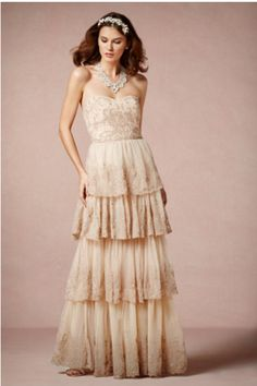 de89eba7e5 BHLDN  Rosecliff  size 2 used wedding dress front view on model Colored  Wedding Dresses