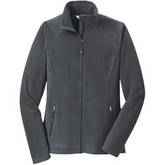 Eddie Bauer Women's Grey Steel Full-Zip Microfleece Jacket