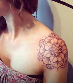 Mandala Tattoo for Women on Shoulder