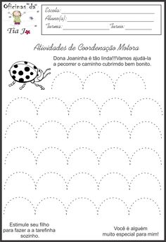 Coordenação motora fina | Jossandra Barbosa Number Worksheets Kindergarten, Preschool Workbooks, Kindergarten Coloring Pages, Tracing Worksheets, Kindergarten Writing, Writing Activities, Preschool Activities, Pre Writing, Professor