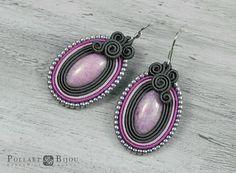 Soutache earrings Small earrings soutache Orecchini soutache Soutache bilateral Dangle earrings Boucles d'oreilles soutache by PollartBijouSoutache on Etsy