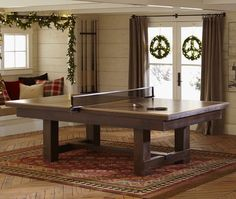 Ping Pong Cover for Pool Table | Pottery Barn