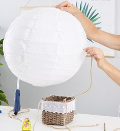 Hot air balloon for the children's room DIY And tie the other end to the fluorescent screen Interior Room Decoration, Room Interior Design, Coffee Room, Corridor Design, Room Setup, Baby Decor, Balloon Decorations, Plexus Products, Balloons