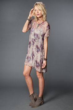 Potent Purple Mix Floral Dress - Chan Luu