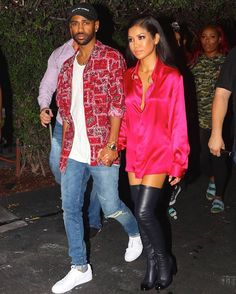 Big Sean Wearing Supreme Shirt, Saint Laurent Jeans And Puma Sneakers