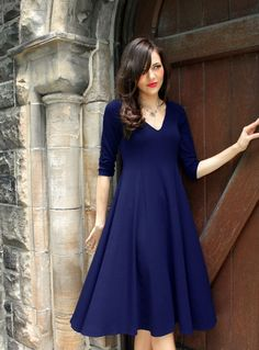 Classic VNeck Dress Kate Middleton style by JessicaRoseFashion, $179.00