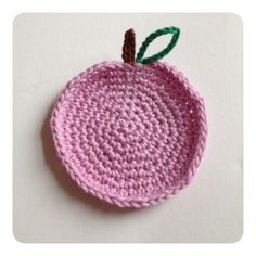 Sweet coaster Apple made by sweetcrochet.nl