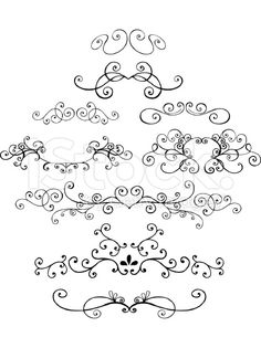 Doodle Vector Ornamental Elements royalty-free stock vector art