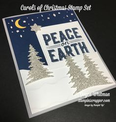 Look how the Silver Glimmer Paper sparkles on this sneak peek of Carols of Christmas stamp set from Stampin' Up!