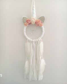 A personal favorite from my Etsy shop https://www.etsy.com/ca/listing/584816075/unicorn-dream-catcher