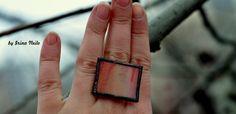 #кольцо из витражного стекла в технике тиффани от #byirinaneilo
