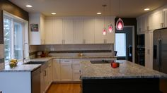 white kitchen subway tile linear glass accent mosaic - Google Search