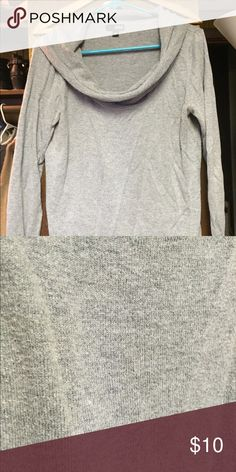 Cowl neck sweater Grey cowl neck sweater. Has some pilling on front. Size large. a.n.a Sweaters Cowl & Turtlenecks