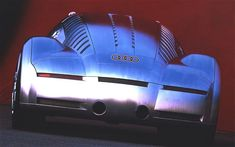 The rear view of the Audi Project Rosemeyer concept car. Power came from a 700bhp W16 engine