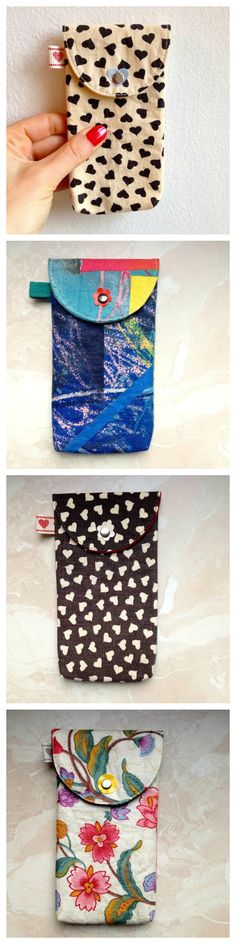Upcycled iPhone cases / handmade /