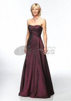 taffeta strapless rouched and beaded bodice with a line mother of bride dress