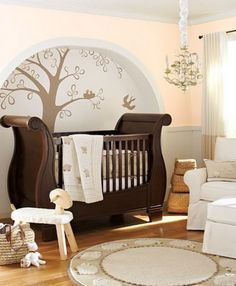 Baby bedroom design ideas with modern and best theme: contemporary baby room wall stickers. I feel like this is what a Hobbit baby's room would look like!