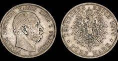 Prussia, Wilhelm I Koenig 1876
