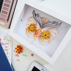 Paper quilling owl