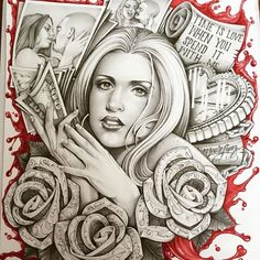 Time is love #Timeless #mouselopez #roses #chicano #chicanoart #cholas